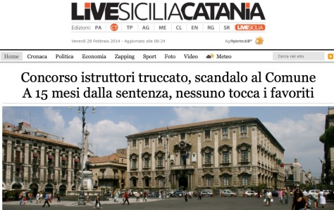 Comune di Catania ecco gli impuniti del concorso truccato