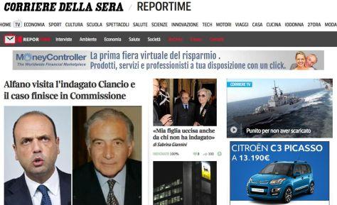 Alfano incontra l'indagato Ciancio e il caso finisce in commissione Antimafia